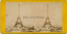 La Tour Eiffel Paris France Stereo Vintage albumine 1889