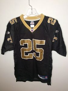 Reebok NFL New Orleans Saints Reggie Bush 25 Jersey Black Gold Youth ... d2c6c2919