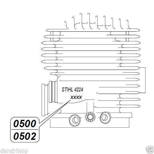 TS800 TS 800-Z Cylinder Head Gasket #42240292302 TS 700-Z STIHL TS700