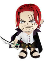 1x Authentic One Piece Anime Great Eastern (ge-52723) 8 Shanks Stuffed Plush