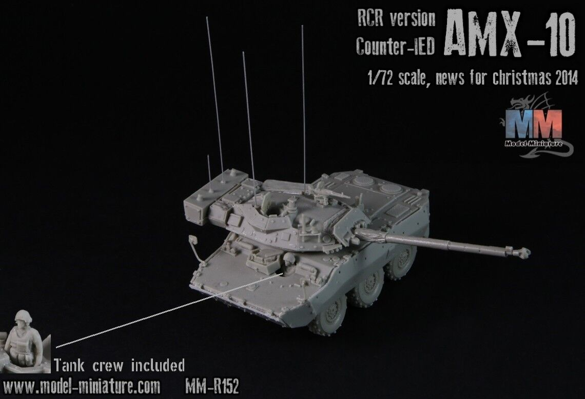 AMX-10 RCR Anti-IED (counter IED), french version, by Model Miniature ,1 72