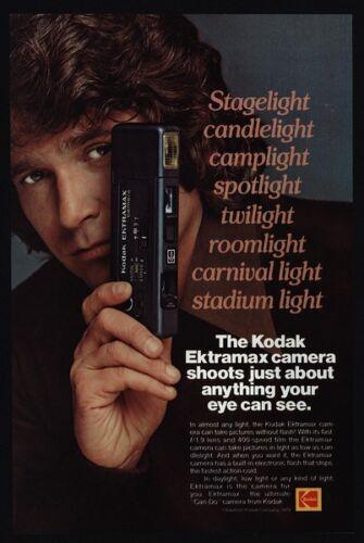 1979 MICHAEL LANDON KODAK EKTRAMAX Camera Little House on Prairie VINTAGE AD