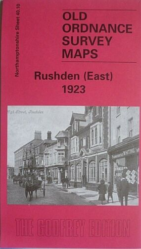 Old Ordnance Survey Maps Rushden East 1923 Northamptonshire Sheet 40.10 New