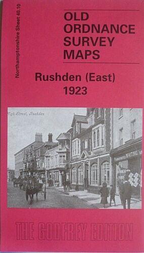 Old Ordnance Survey Maps Rushden East 1923 Northamptonshire Sheet 40.10 New