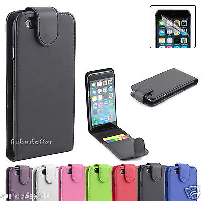 Apple iPhone 6 6 Plus NEW Flip PU Leather Case Cover+Screen Protector