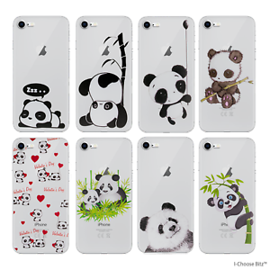 Panda-Custodia-Case-Cover-Per-iPhone-5-SE-6-7-8-Plus-Galaxy-S6-S7-Edge-S8-Plus