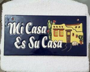 "Glossy Raised Texture /""Siesta Time/"" Mexican Talavera Ceramic Tiles 4x4"