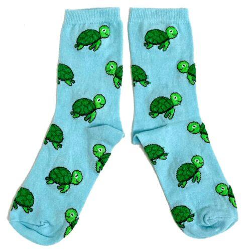 37-42 Eur 6-10 US Ladies Turtley Amazing Green Turtles Socks 4-8 UK
