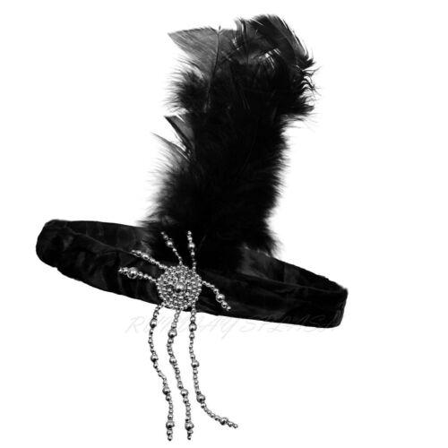 NEW LADIES FLAPPER CHARLESTON BLACK 1920S 20S FANCY DRESS COSTUME KIT ACCESSORY
