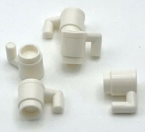 Lego 5 New White Minifig Utensil Cup Accessories Pieces