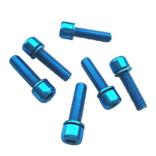 6 Hex Socket Screws M5x18 Bolts for Rear Rack Water Bottle Cage Holder Blue
