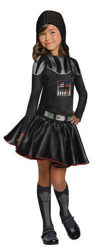 Darth Vader Ragazze Costume STAR WARS MOVIE Libro Settimana giorno BAMBINO KIDS COSTUME