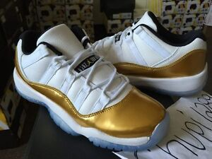 816ac5773c6fcc Nike Air Jordan Retro XI 11 Low Closing Ceremony Olympic White Gold ...