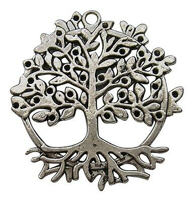 ❤ Tibetan Silver Large TREE OF LIFE Focal Pendant 50mm Jewellery Making ❤