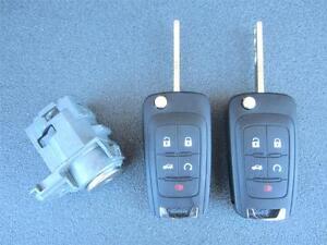 Details about Chevy Cruze Impala Malibu 2 Precut Keyless Entry Remote Flip  Key Fobs Door Lock