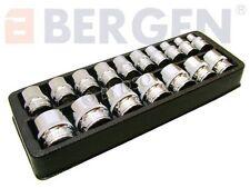 BERGEN Professional 17 Piece 3/8 inch Drive 8-24mm Shallow Single Hex Socket Set