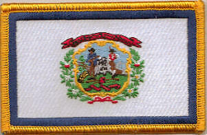West Virginia US State Flag Embroidered Patch T8