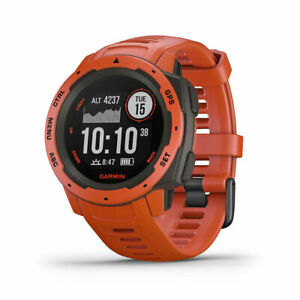 Garmin Instinct Rugged Outdoor Watch with GPS, and Heart Rate Monitoring, Flame