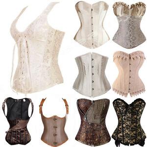 a3ae787023 Image is loading Renaissance-Women-Waist-Training-Corset-Lace-up-Bustier-