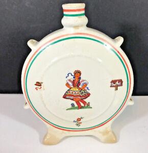 Vintage Granit Handmade Bud Vase Hungary Porcelain Dancing Girl Ceramic Jar 2752