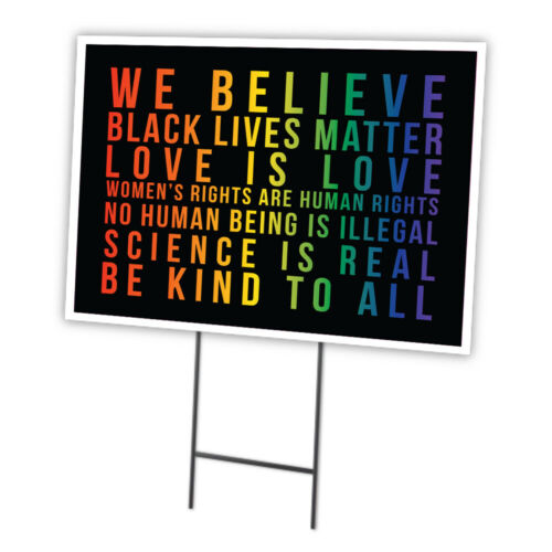 Black Lives Matter Be Kind To All Yard Sign /& Stake outdoor plastic coroplast