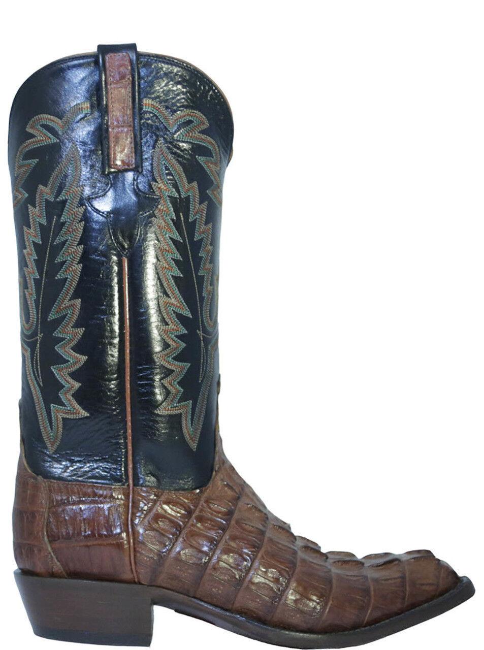 Men's Lucchese L1326.23 Classics Caimán Cocodrilo botas de vaquero, Coñac