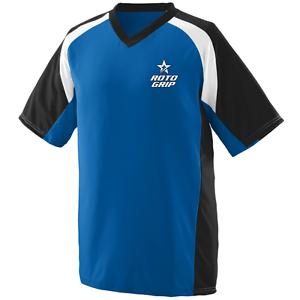 redo Grip Men's Epic Performance Jersey Bowling Shirt Dri-Fit Royal bluee