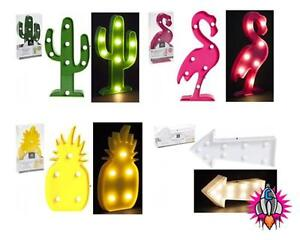 Funky Wall Lights >> Details About Funky Led Party Wall Light Flamingo Pineapple Cactus Arrow