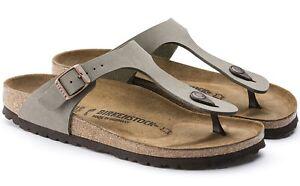 Brand-New-Women-039-s-Birkenstock-Gizeh-Stone-Sandals
