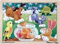 Melissa And Doug Playful Pets Jigsaw (12 Pc) , New, Free Shipping on sale