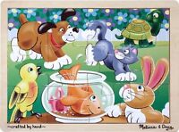 Melissa And Doug Playful Pets Jigsaw (12 Pc) , New, Free Shipping on sale