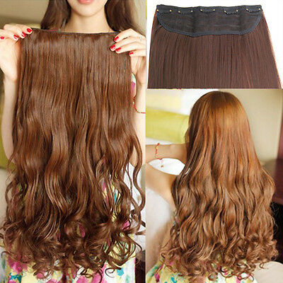 Synthetic Clip In Hair Extensions Full Head Curly Wavy Weft human preference B5