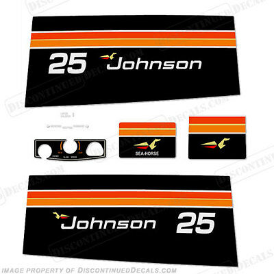 Discontinued Decal Reproductions Johnson 1969 25hp Outboard Decal Kit Sticker