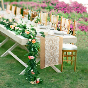 Image Is Loading 20 Hessian Burlap Table Runner Rustic Wedding Favor