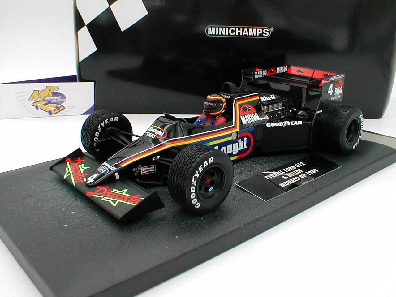 Minichamps 117840004-Tyrrell Ford 012 formula 1 1984  Stefan Bellof  1 18 NUOVO