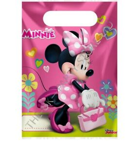 PINK MINNIE MOUSE PARTY LOOT GIFT BAGS Birthday Party Supplies Girls Favour Bag
