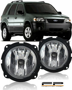 2007 2012 ford escape fog lights clear lamp bulbs wiring harness rh ebay com