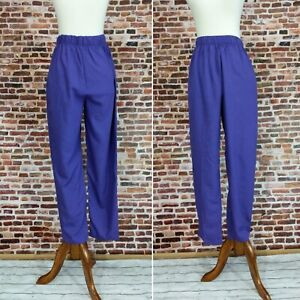 80s satin pants  high waist  tapered leg  unworn with tags
