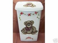 Hp Bear Trash Can/laundry Hamper/new By Mb/ Adorable