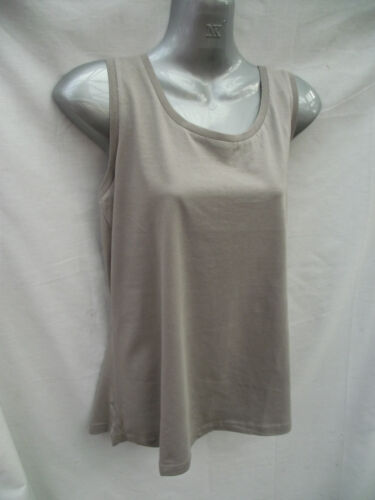 BNWT Ladies Sz 14 Rivers Brand Lovely Latte Stretch Sleeveless Relaxed Fit Top