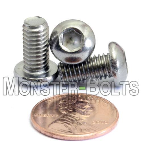 ISO 7380 M6 x 12mm A2 Stainless Steel BUTTON HEAD Socket Cap Screws Qty 10