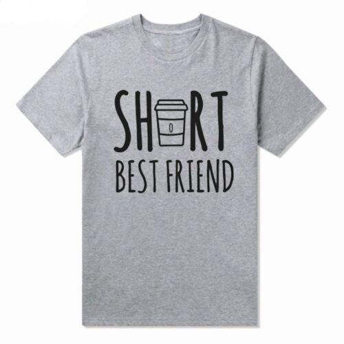 Le Donne Carino migliore amico Camicie-Tall e Short FUNNY BFF Cotone T-shirt