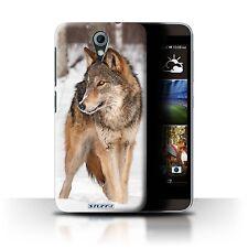 Stuff4 Hülle/Case für HTC Desire 620G/Wolf/Wilde Tiere