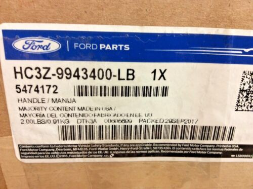 2017-2018 Ford F-250 F-350 Super Duty Rear Truck Bed Tailgate Handle New OEM