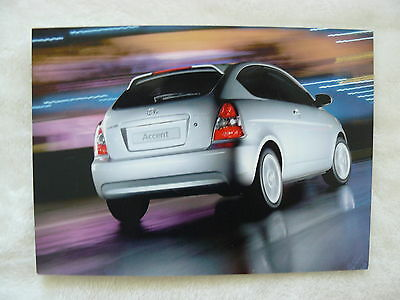 Hyundai Accent h0008 Die Nieren NäHren Und Rheuma Lindern Typ Mc Presse-foto Werk-foto Pressfoto 2006