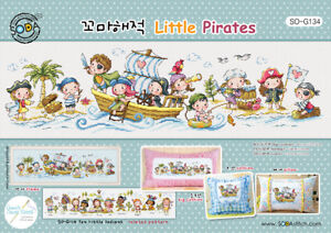 Details about Little Pirates - cross stitch pattern chart/DMC Floss/kit   SODAstitch SO-G134