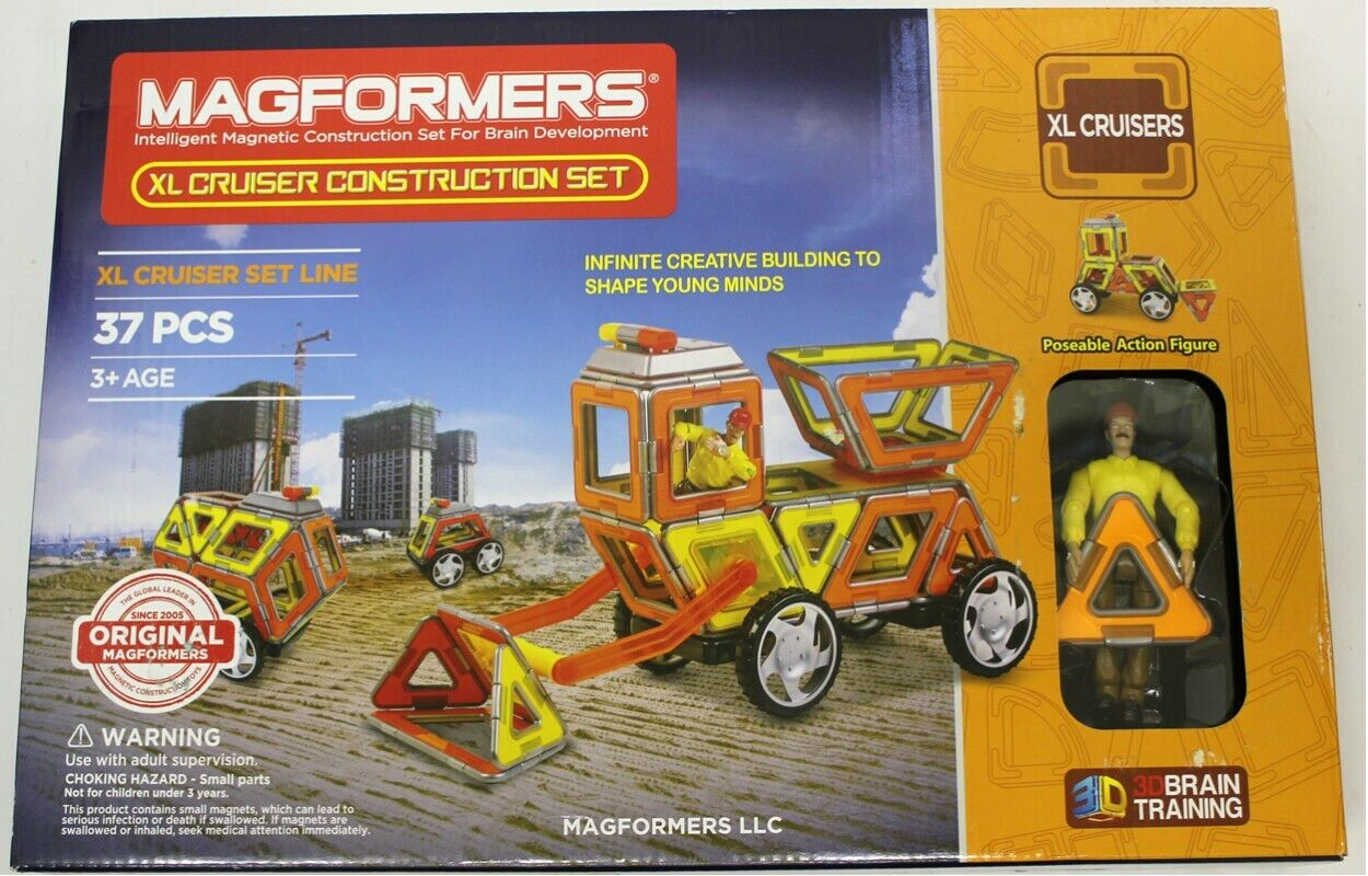 New New New Magformers XL Cruiser Construction Set 37 Piece Magnetic 63080 ee3461
