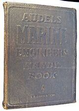 1943 AUDELS MARINE ENGINEERS HANDY BOOK W/Q&A's, E. P. ANDERSON, 1ST ED?