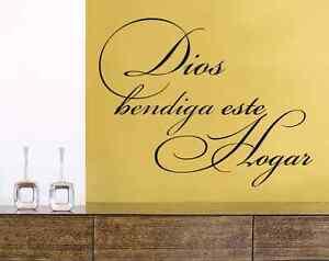 dios bendiga este hogar spanish christian religious wall