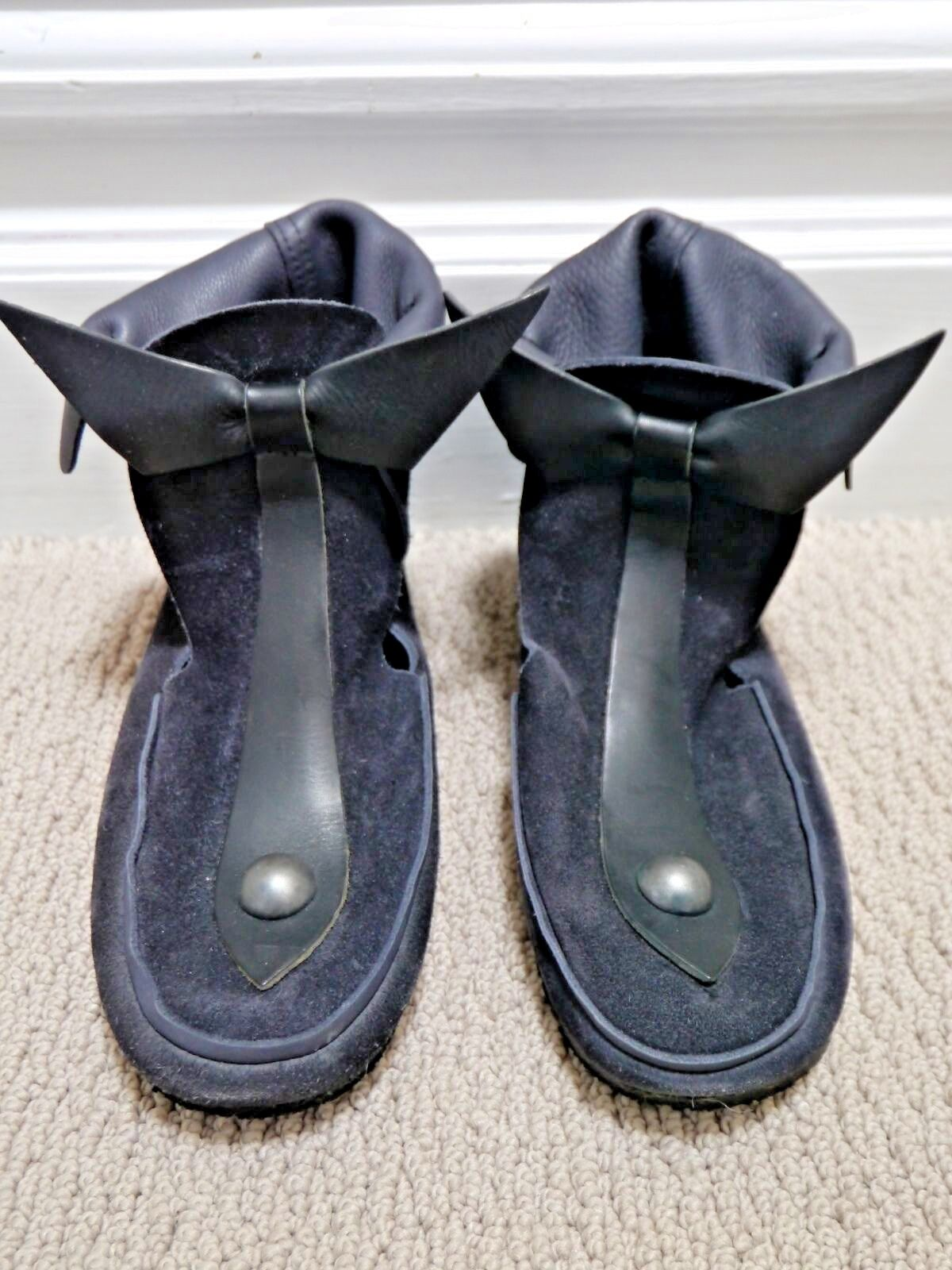 ISABEL MARANT MARANT MARANT  965 black suede Memphis Bow Tie Loafer Moccasin Boot 37 WORN ONCE 00c4b8